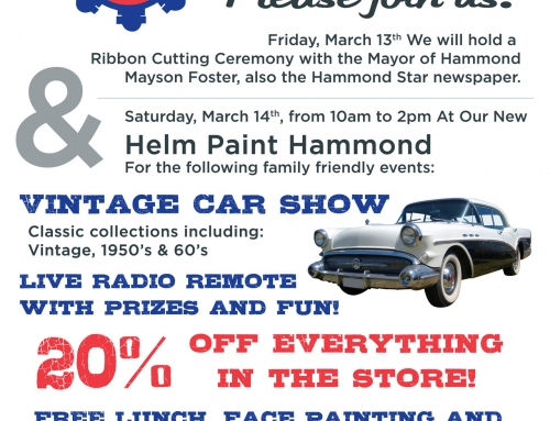 Helm Paint Hammond Grand Opening