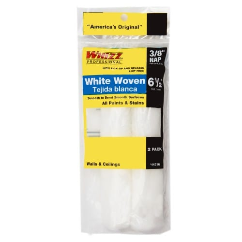 "Whizz 6.5"" X 3/8"" WHIZZFLEX WHITE WOVEN Paint Rollers"