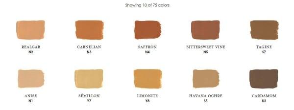 Copper Century Paint Colors