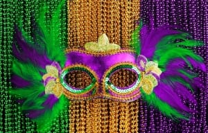 Purple, Green & Gold is Mardi Gras?