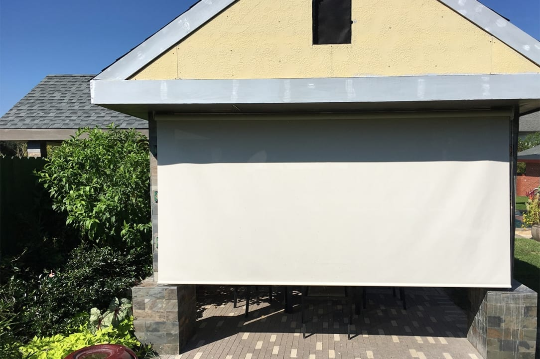 Lakeview Patio Solar Shades Installation