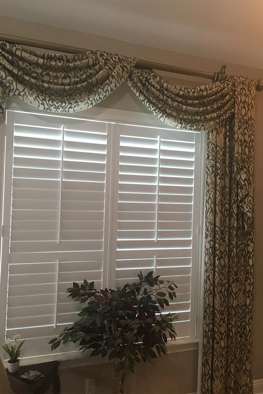 Customized Metairie Plantation Shutters and Drapes