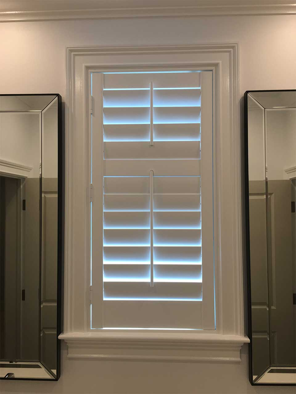 Shutters in bathroom