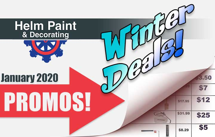 Helm Paint monthly promo's