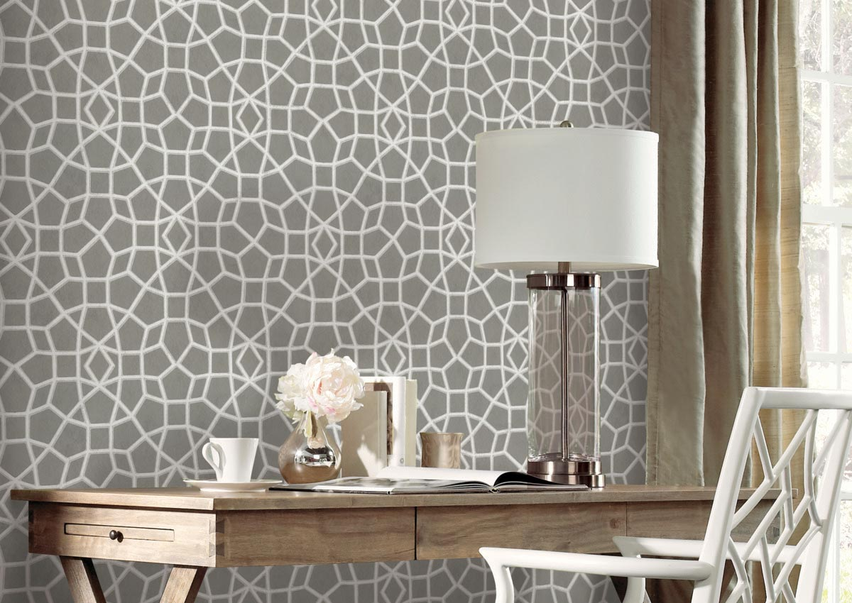 smaller rooms pop with wallpaper, Wall Coverings