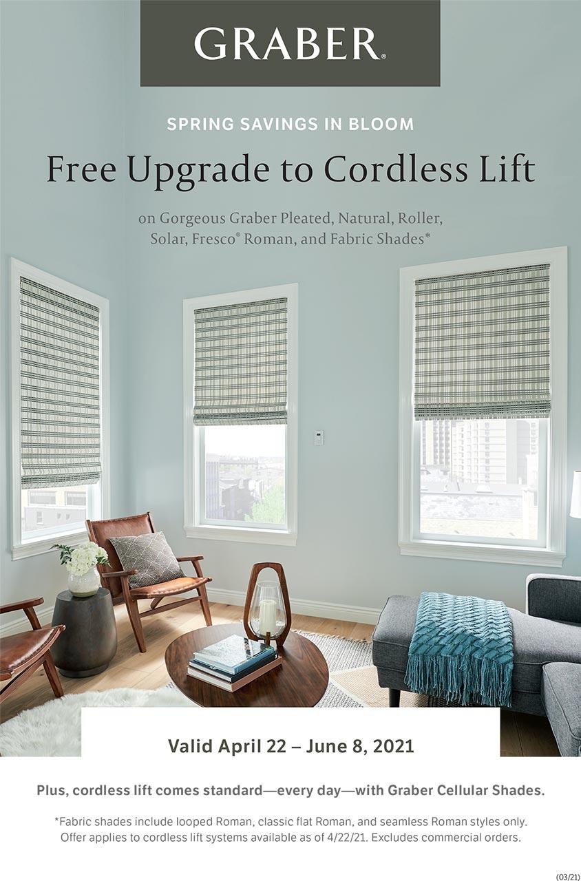 Graber Free Upgrade to Cordless Lift