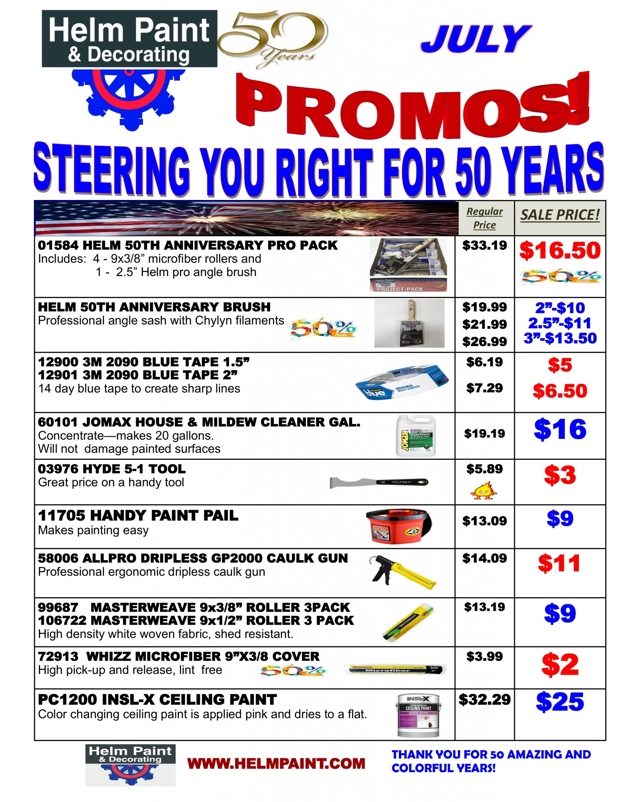 July 2021 Sales Flyer and Special Offers