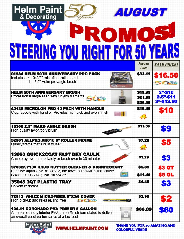 August 2021 Sales Flyer and Special Offers